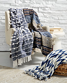 LAST ACT! Lacourte Globetrotter Blue Throw Blanket Collection, Created for Macy's