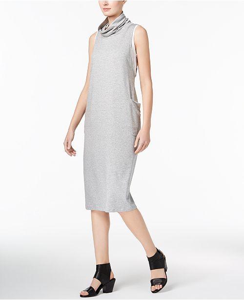 b4df4349b9bdd Eileen Fisher Tencel® Cowl-Neck Shift Dress   Reviews - Dresses ...