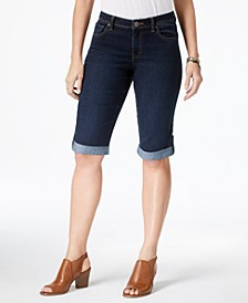 Cuffed Denim Skimmer Shorts,  Created for Macy's