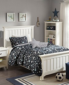Starry Night 4-Pc. Full/Queen Reversible Coverlet Set