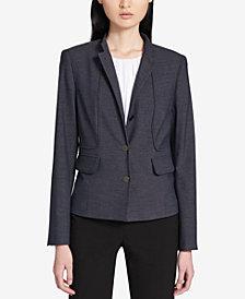 Calvin Klein Mandarin-Collar Blazer