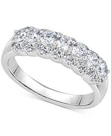 Diamond Two-Level Ring (1 ct. t.w.) in 14k White Gold