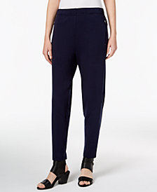 Eileen Fisher Tencel® Tapered Pull-On Ankle Pants, Regular & Petite