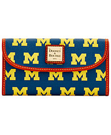 Dooney & Bourke Michigan Wolverines Clutch
