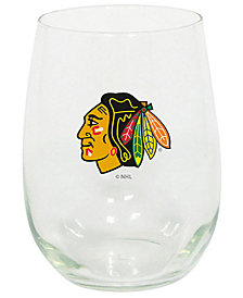 Memory Company Chicago Blackhawks Stemless Wine Glass