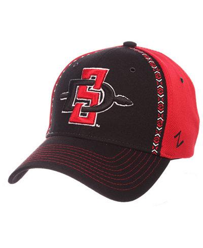 Zephyr San Diego State Aztecs Pattern Pipe Stretch Cap