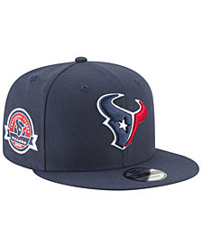 New Era Houston Texans Anniversary Patch 9FIFTY Snapback Cap