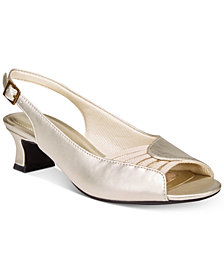 Easy Street Bliss Slingback Peep-Toe Pumps
