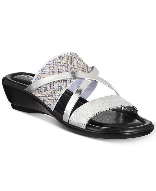 Palazzo Wedge Sandals