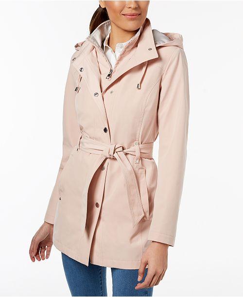 c9205fb187fd Nautica Belted Hooded Raincoat   Reviews - Coats - Women - Macy s