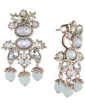 Marchesa Gold-Tone Crystal & Bead Drop Earrings, Created for Macy's