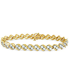 Diamond Swirl Tennis Bracelet (6 ct. t.w.) in 14k Gold