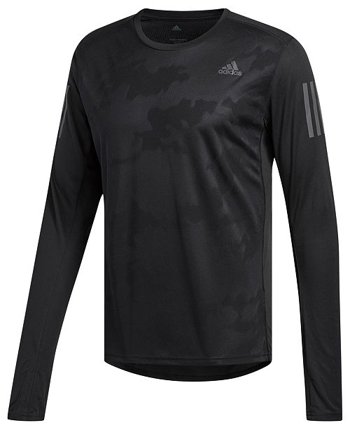 sports shoes a3709 23d5e adidas Men's Response ClimaCool® Long-Sleeve T-Shirt ...