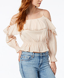 ASTR The Label  Marie Strappy Flounce Top
