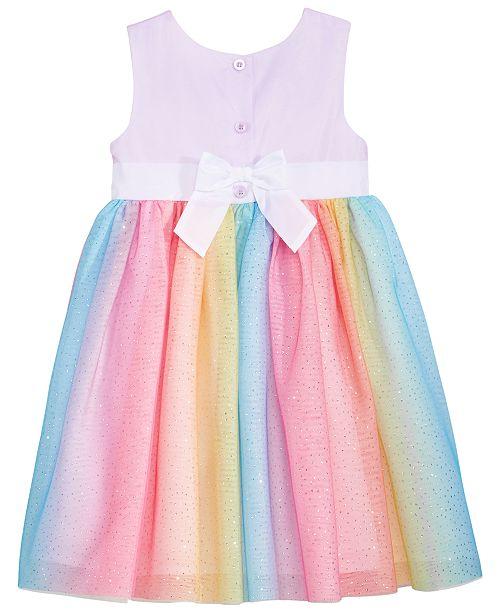 642a374d Blueberi Boulevard Glitter Rainbow-Skirt Dress, Toddler Girls ...