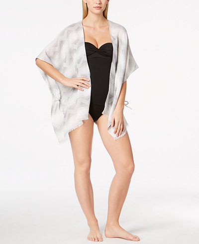 Calvin Klein Chevron Cover-Up, Created for Macy's