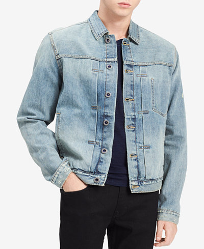 Calvin Klein Jeans Men's Antique Wash Denim Trucker Jacket