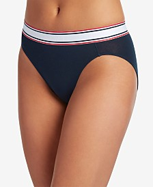 Jockey Retro Stripe Hi-Cut Panty Underwear 2254, First at Macy's, also available in extended sizes