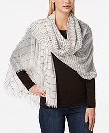 Calvin Klein Oversized Textured-Stripe Scarf