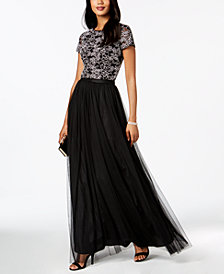 Adrianna Papell 2-Pc. Lace Mesh Gown