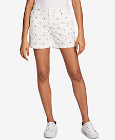 "Tommy Hilfiger Poppy-Print 5"" Shorts, Created for Macy's"