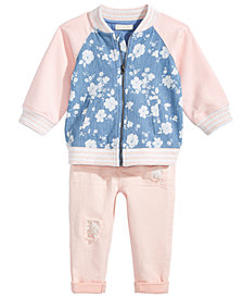 First Impressions Floral-Print Jacket & Leggings Separates, Baby Girls, Created for Macy's