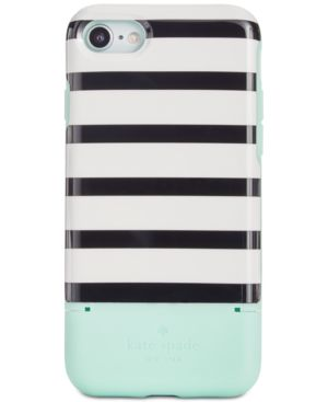 Kate Spade New York Stripe Credit Card Iphone 7/8 Case, Green Multi
