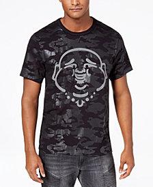 True Religion Men's Buddha Tonal Camouflage Logo-Print T-Shirt