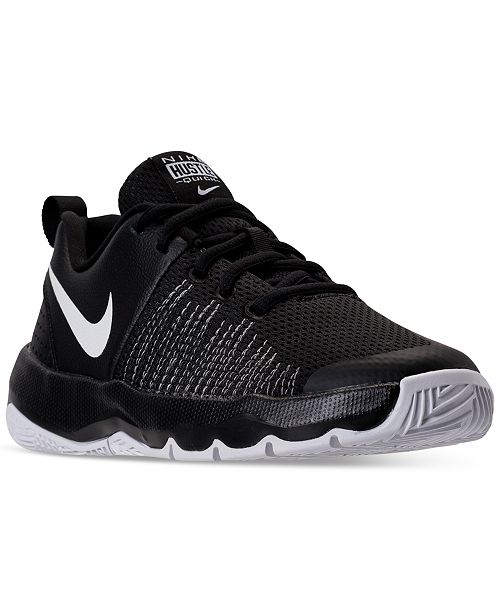 newest 70ef7 671ef ... Nike Big Boys  Team Hustle Quick Basketball Sneakers from Finish ...