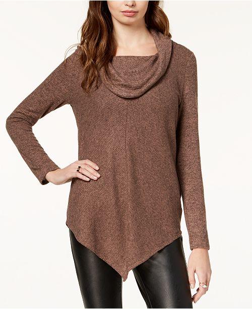 BCX Juniors' Cowl-Neck Sweater