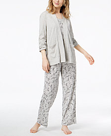 Charter Club 3-Piece Pajama Set, Created for Macy's