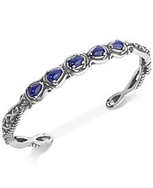 Lapis Lazuli Cuff Bracelet (2-1/4 ct. t.w.) in Sterling Silver
