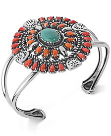 American West Multi-Stone Cuff Bracelet (12-1/4 ct. t.w.) in Sterling Silver