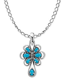 Turquoise Pendant Necklace (1-3/4 ct. t.w.) in Sterling Silver