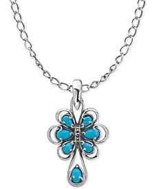 Carolyn Pollack Turquoise Pendant Necklace (1-3/4 ct. t.w.) in Sterling Silver