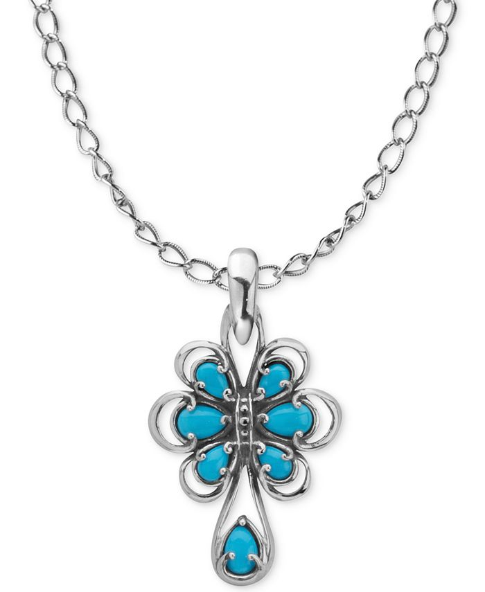 Carolyn Pollack - Turquoise Pendant Necklace (1-3/4 ct. t.w.) in Sterling Silver