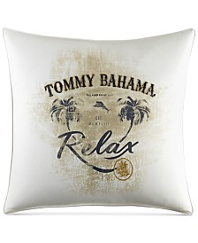 """CLOSEOUT! Tommy Bahama Home Palms Away 20"""" x 20"""" Relax Decorative Pillow"""