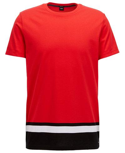 BOSS Men's Regular/Classic-Fit Colorblocked Cotton T-Shirt