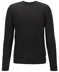 BOSS Men's Regular/Classic-Fit Striped Stretch Sweater