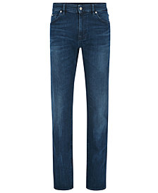 BOSS Men's Regular/Classic-Fit Stretch Jeans