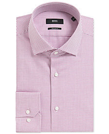 BOSS Men's Regular/Classic-Fit Geometric Cotton Dress Shirt
