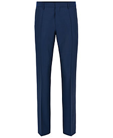 BOSS Men's Slim-Fit Basketweave Virgin Wool Dress Pants