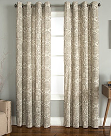 Miller Curtains Savara Cotton Watercolor Medallion-Print Window Panels