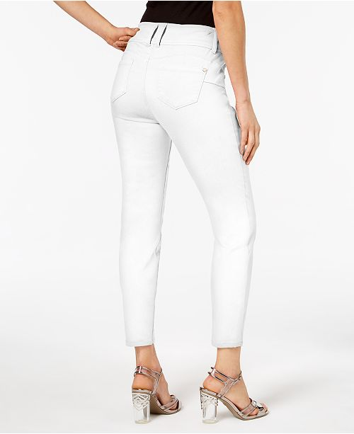 for Created Thalia Double Macy's White Pants Bright Ankle Button Sodi Skinny 47PTB