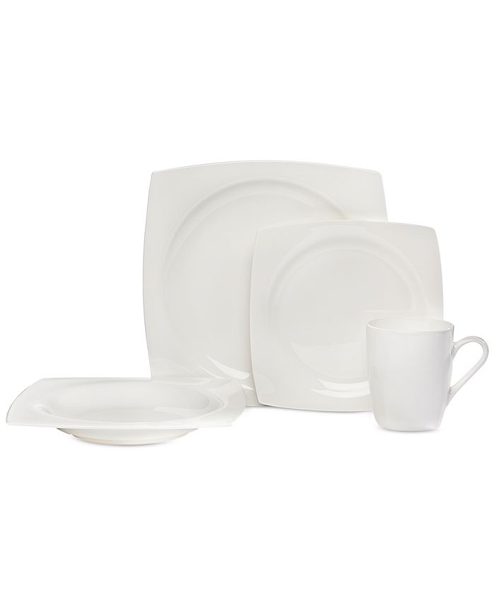 Godinger - Square 16-Pc. Dinnerware Set, Service for 4