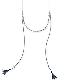 "I.N.C. Hematite-Tone Tassel Scarf Necklace, 20"" + 3"" extender, Created for Macy's"