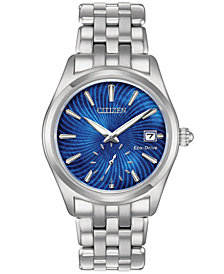 Citizen Women's Eco-Drive Corso Stainless Steel Bracelet Watch 36.2mm, Created for Macy's