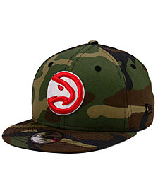 New Era Boys' Atlanta Hawks Woodland Team 9FIFTY Snapback Cap