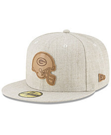 New Era Green Bay Packers Heathered Helmet 59FIFTY Fitted Cap