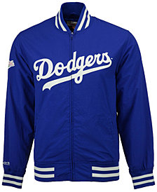 Mitchell and Ness Men's Los Angeles Dodgers Team History Warm Up Jacket